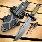 12.5' MILITARY Army TACTICAL Hunting FIXED BLADE SURVIVAL Knife w Fire Starter