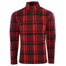 Chaps Men's Fleece Flannel 1/4 Zip Jacket Red/Black M