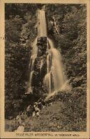 Trusetaler Wasserfall im Thüringer Wald alte Postkarte 1914 Waterfall River Fall