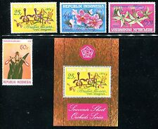 Indonesia 978-980, 978a MNH Flowers, Orchids CV- 1976 x12234