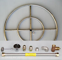 "6"" 12"" 18"" 24"" 30"" 36"" Stainless Steel Fire Pit Burner Ring KIT for Natural gas"