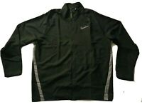NWT Nike 928010-010 Men's Full Zip Dry Woven Training Jacket Black Silver sz XXL