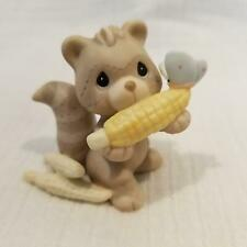 """PRECIOUS MOMENTS SQUIRREL WITH CORN COB FROM """"FALL FESTIVAL"""" 2000 SET 732494"""