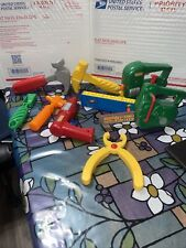Vintage Lot Of Fisher Price & Little Tykes Pretend Play Tools Hammer Drill Plier