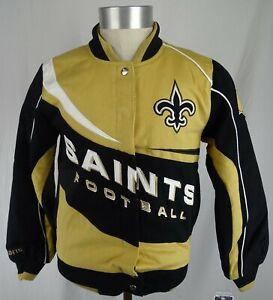 New Orleans Saints NFL Team Apparel Men's Snap-Up Jacket