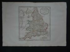 1806 VAUGONDY  Atlas map  ENGLAND & WALES - ANGLETERRE