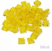 LEGO - 50 x Basic Platte 1x1 transparent - gelb / transgelb / 3024 NEUWARE