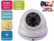 1200TVL Analog SONY Sensor Night Vision Outdoor Indoor CCTV Security Camera
