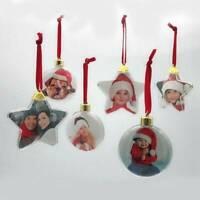 Xmas Party DIY Photo Frame Pendant Toys Christmas Tree Hanging Ornament Decor AK