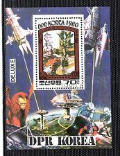 Corea Espacio Misiones Espaciales Hojita del año 1980 (CX-632)