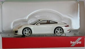 Herpa 028523-002 H0 Porsche 911 Carrera 2 Coupé, Blanco # Nuevo Emb. Orig. #