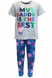 Boys George Pig Pyjamas Pjs Set My Daddy Is The Best Nightwear Kids