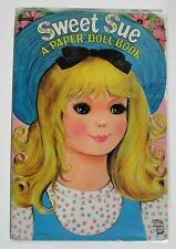 Vintage Paper Dolls- SWEET SUE - 2 dolls with clothes & acces - pre-cutm