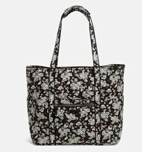 Vera Bradley Iconic Small Floral Black Holland Garden Baby Quilted Tote NEW