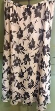 Jacques Vert Uk 16 Eu 42 Elastic Waistband Skirt Floral Print Lined Casual