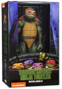 Neca Teenage Mutant Ninja Turtles 1990 Movie 1:4 Michelangelo Action Figure NEW