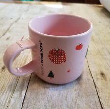 Starbucks x ban.do bando Pink Fall Coffee Mug 12 oz