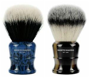 MASETO 26&28&30mm Classic Luxury Silvertip&2-Band Synthetic Fiber Shaving Brush
