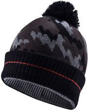 NEW! Sealskinz Waterproof Bobble Hat - Camo Colour (Black/Tarmac) (T2609) - L/XL