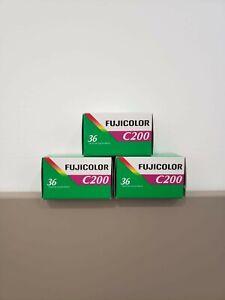 Fujifilm fujicolor 200/c200 (36exp) 3 pack 35mm film - exp. 2022 (FREE SHIPPING)