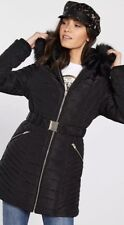 New River Island Parka Fur,size Available 12 And 14,black