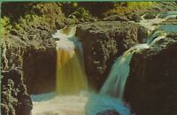 Vintage Antique Wisconsin WI Postcard Beautiful Copper Falls State Park  Mellen