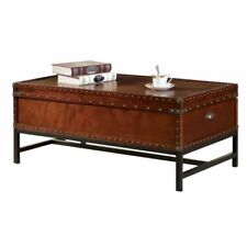 Furniture of America Vannoy Coffee Table in Cherry