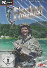 PC CD-ROM + Fischen + Fischfang + Angeln + Köder + Gewässer + Win 8