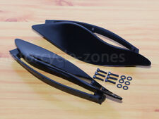 Black ABS Plastic Side Wings Air Deflectors For Harley Davidson Touring FL 14-16
