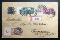 1920 Alt Ukta Olsztyn Registered Cover to Hanover Germany Plebiscite Stamp
