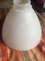 Glass Ceiling Light Cover White Reclaimed Vintage T388B