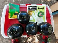 BREWER AUSTRALIAN Lawn Bowls Set of 4 Size 4 15/16 HH 51