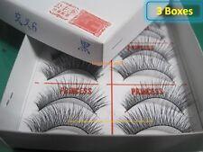 3 Box -New Original PRINCESS LEE Handmade False Fake Eyelash-X6 Black (10 Pairs)