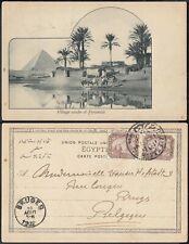 Egypt 1902- Illustrated postcard to Bruges-Belgium...  (EB) MV-6276