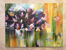 """""""Flowers fantasy"""" BEAUTIFUL OIL PAINTING! Signed, Ukraine, Kiev"""