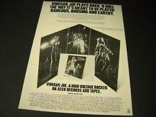 Vinegar Joe Robert Palmer & Elkie Brooks 3/16/ - 5/14/1973 Tour Promo Poster Ad