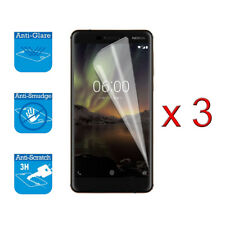 For Nokia 6 2018 6.1 - Screen Protector Cover Guard LCD Film Foil x 3