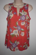 NEW Rose + Olive Coral Floral & Bird Print Sleeveless Top Size S Purple Blue NWT
