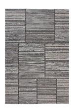 Patchwork Teppich Design Modern Kasten Muster Wohnzimmer Teppiche Grau Taupe