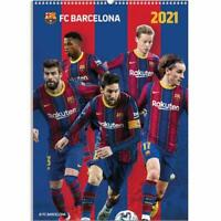 FC Barcelona A3 Wall Format Calendar 2021 Official Licenced Product
