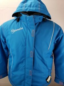 Yamaha Womens Snowmobile Jacket Teal Blue Script Logo Size 10 New With Tags