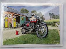 Nostalgique ROYAL ENFIELD INTERCEPTOR 1965 Moto Ouvert Vide Carte D'Anniversaire
