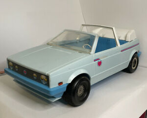 Vintage Mattel 1981 Barbie Heart Family Convertible Car, Blue White