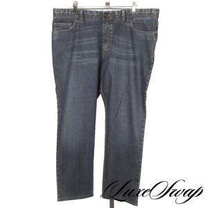 RECENT #1 MENS Brioni Made in Italy Livigno Denim Blue Stretch Euro Jeans 40 NR