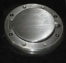 Custom Brushed Aluminum Fuel Gas Door Replacement NIP Rat Hot Rod #AU04