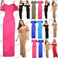 Viscose Dresses Maxi with Cold Shoulder