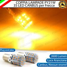 COPPIA LAMPADE PY21W BAU15S CANBUS 35 LED FIAT QUBO FRECCE ANTERIORI NO AVARIA