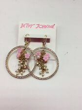 $50 Betsey Johnson Pave Gypsey Hoop earrings Marie Antoinette Collection PK11