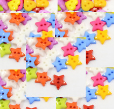 100 Mixed Color Star, Shape Resin Cartoon Buttons  12mm Acrylic