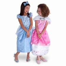 DISNEY STORE DELUXE CINDERELLA 3PC DRESS UP COSTUME SET 4 PINK BLUE CAPELET NEW